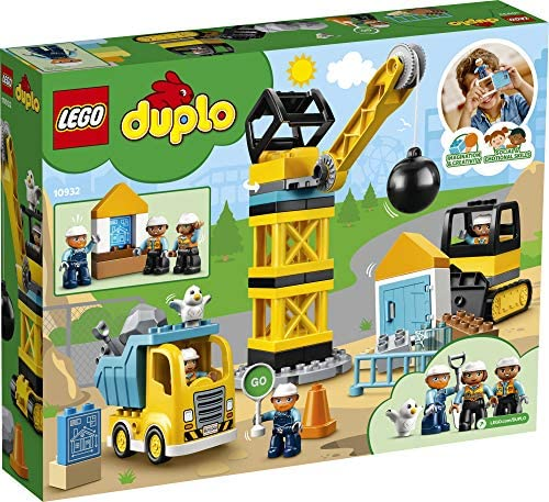 61DDPJu5CKL. AC  - LEGO DUPLO Construction Wrecking Ball Demolition 10932 Exclusive Toy for Preschool Kids; Building and Imaginative Play with Construction Vehicles; Great for Toddler Development, New 2020 (56 Pieces)