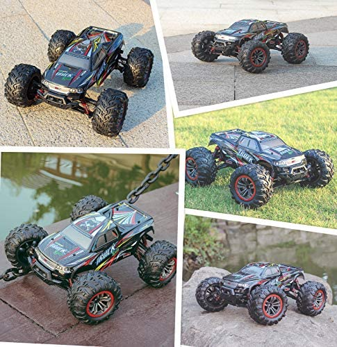 61GiRCeYuSL. AC  - Hosim Large Size 1:10 Scale High Speed 46km/h 4WD 2.4Ghz Remote Control Truck 9125,Radio Controlled Off-road RC Car Electronic Monster Truck R/C RTR Hobby Grade Cross-country Car (Black)