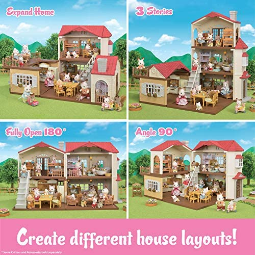 61GyTh60huL. AC  - Calico Critters Red Roof Country Home Gift set