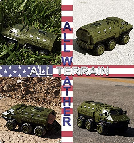 61NR3dJR hL. AC  - RC Cars, 1/16 Scale RC Military Truck, 6WD 2.4GHz 98 Foot RC Distance, Remote Control Army Armored Car with 2 Batteries for 120 Min Play, All-Terrain Off-Road Army Truck for Adults Kids Boys