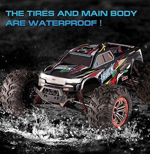 61jCbq8mToL. AC  - Hosim Large Size 1:10 Scale High Speed 46km/h 4WD 2.4Ghz Remote Control Truck 9125,Radio Controlled Off-road RC Car Electronic Monster Truck R/C RTR Hobby Grade Cross-country Car (Black)