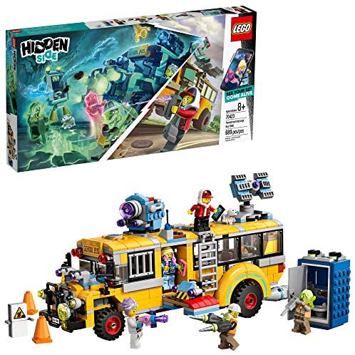 61wHN8hvewL. AC  - LEGO Hidden Side Paranormal Intercept Bus 3000 70423 Augmented Reality (AR) Building Kit with Toy Bus, Toy App Allows for Endless Creative Play with Ghost Toys and Vehicle (689 Pieces)