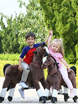 719a3098 cd61 491d 8f06 23d5518ca24a.  CR0,0,600,800 PT0 SX300 V1    - Gidygo Kids Riding on Toy Walking Rocking Horse Plush Animal Brown Pony for Children for 3-6 Years Old
