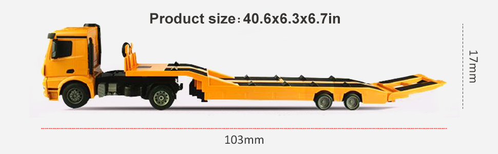 7JDUBR8JSyaX. UX970 TTW   - DOUBLE E Mercedes-Benz Licensed RC Tow Truck Detachable Flatbed Semi Trailer Engineering Tractor Remote Control Trailer Truck Electronics Hobby Toy with Sound and Lights