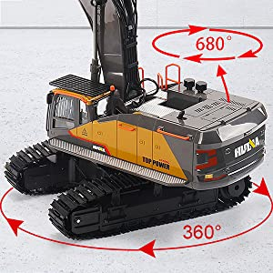 7a7aacae 1735 401e 9006 52a9133936e6.  CR0,0,600,600 PT0 SX300 V1    - Fistone RC Excavator with Alloy Bucket, 1/14 Scale 22 Channel Remote Control Construction Vehicles Truck Die-cast Engineering Excavator Toys for Kids and Adults