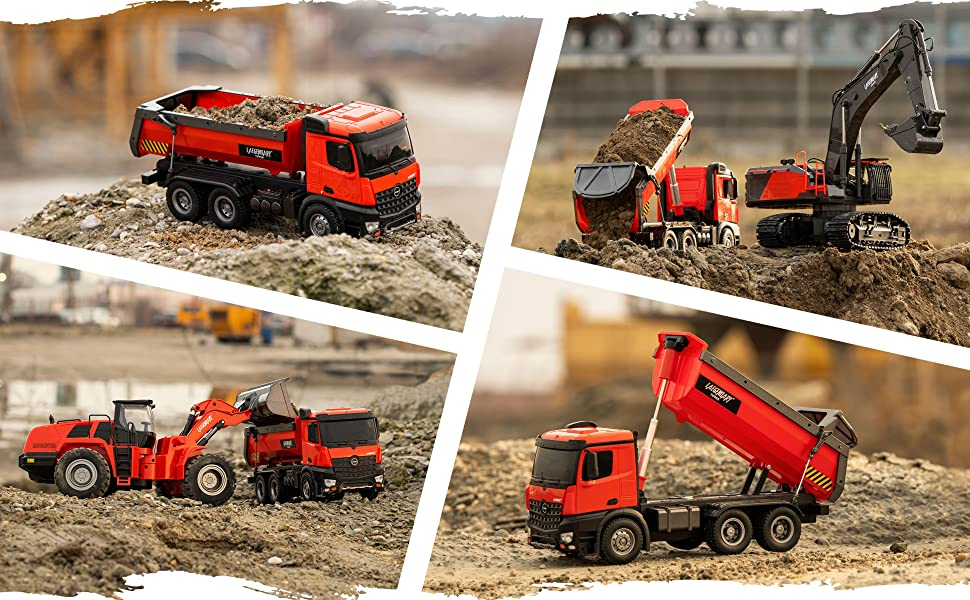 7d0ea5c2 6773 4313 8d91 78d9ab862826.  CR0,0,3880,2400 PT0 SX970 V1    - 1:14 Scale Large Remote Control Dump Truck for Boys and Adults – Compatible with Excavators RC Construction Vehicles - 10 Channel Full Functional – Metal and Plastic Parts – 2 Batteries & 2 Chargers