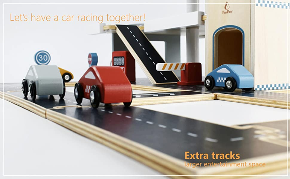 85561166 0b0a 491d 8f8e 659e771ebfde.  CR0,0,2303,1425 PT0 SX970 V1    - PairPear Wooden Parking Garage Race Track with Toy Vehicles Large Service Station with Elevator Car Wash Petrol Pump Helicopter playset for Kids 3+