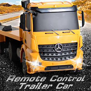 8ed3KKnuS7yr. UX300 TTW   - DOUBLE E Mercedes-Benz Licensed RC Tow Truck Detachable Flatbed Semi Trailer Engineering Tractor Remote Control Trailer Truck Electronics Hobby Toy with Sound and Lights