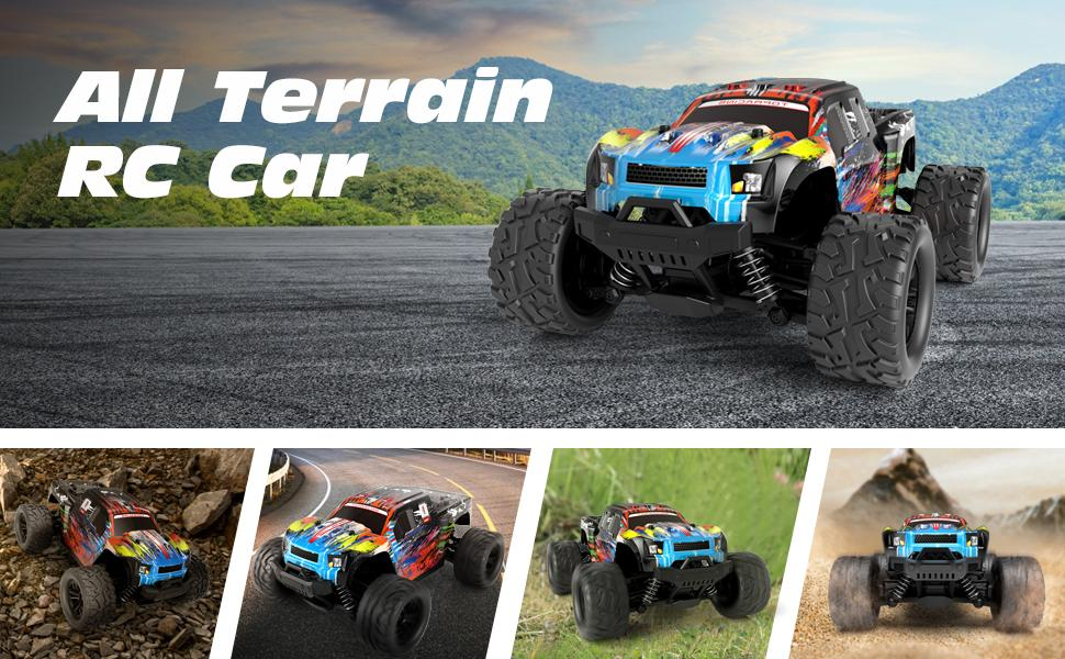 97bf5d12 ff28 429d a2a1 142ac813c01f.  CR0,0,970,600 PT0 SX970 V1    - Tecnock RC Cars RC Trucks for Kids Adults,1:18 Scale 38km/h 4WD High Speed Remote Control Car,2.4 Ghz All Terrain Remote Control Monster Truck for Boys,2 Batteries for 40 Min Play