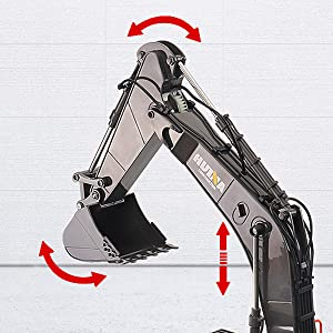 a1877815 b11d 40e1 8f33 65b7aedc384b.  CR0,0,600,600 PT0 SX300 V1    - Fistone RC Excavator with Alloy Bucket, 1/14 Scale 22 Channel Remote Control Construction Vehicles Truck Die-cast Engineering Excavator Toys for Kids and Adults