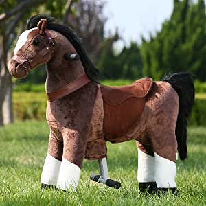 b351a7ed 8134 4317 b421 bc51a4fdb254.  CR0,0,1200,1200 PT0 SX300 V1    - Gidygo Kids Riding on Toy Walking Rocking Horse Plush Animal Brown Pony for Children for 3-6 Years Old