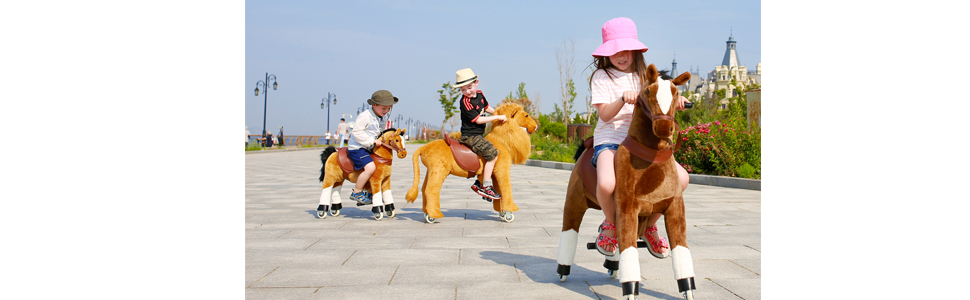 dc7ca5b8 5419 4924 839c 414d1149d770.  CR0,0,970,300 PT0 SX970 V1    - Gidygo Kids Riding on Toy Walking Rocking Horse Plush Animal Brown Pony for Children for 3-6 Years Old