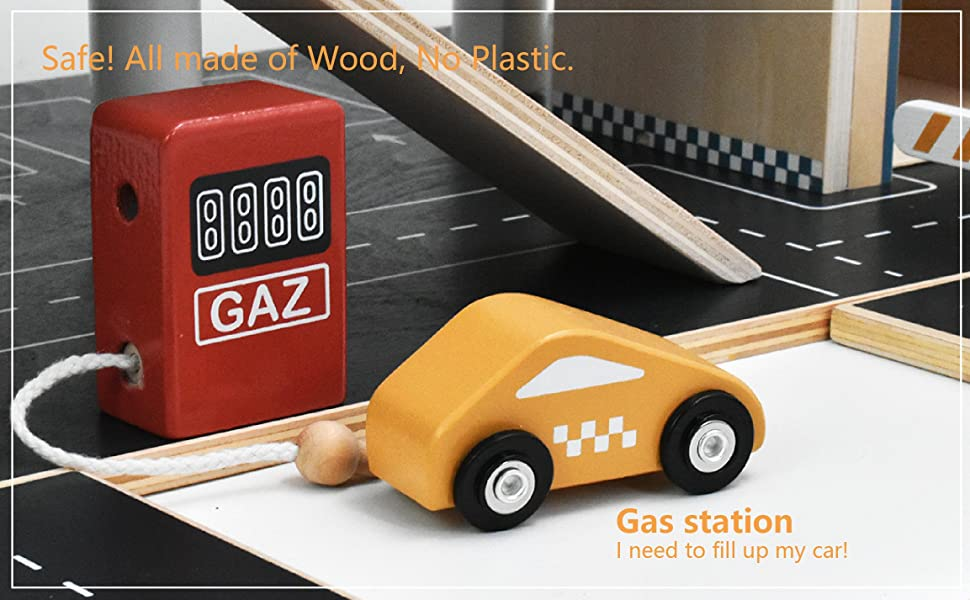 f90c24f7 ea97 4bb7 b14f cc815d3cf309.  CR0,0,2306,1426 PT0 SX970 V1    - PairPear Wooden Parking Garage Race Track with Toy Vehicles Large Service Station with Elevator Car Wash Petrol Pump Helicopter playset for Kids 3+