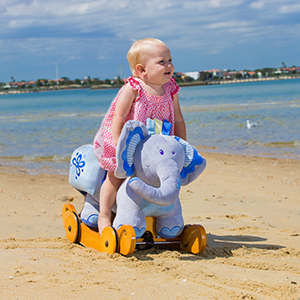 v05qBw8fTnOE. UX300 TTW   - labebe - Baby Rocking Horse, Plush Rocking Animal, Toddler/Baby Wooden Rocker Toy for Nursery, Ride on Toy for Girl&Boy 1-3 Years, 2 in 1 Rocking Elephant Blue with Wheel, Kid Riding Horse Toys