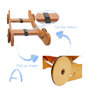 vyX684PeQ0D. UX300 TTW   - labebe - Baby Rocking Horse, Plush Rocking Animal, Toddler/Baby Wooden Rocker Toy for Nursery, Ride on Toy for Girl&Boy 1-3 Years, 2 in 1 Rocking Elephant Blue with Wheel, Kid Riding Horse Toys