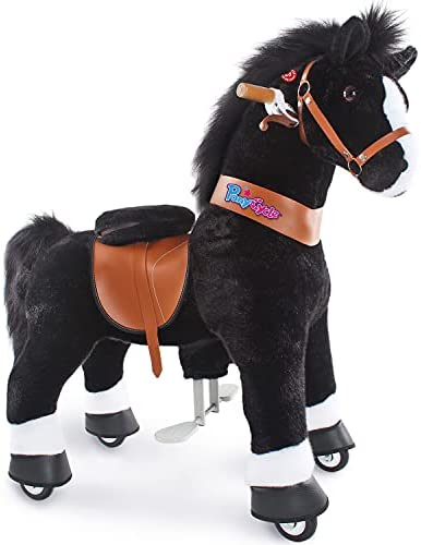 """41W8Wl+IzXL. AC  - PonyCycle Authentic Ride on Pony Toy Spring Horse (with Brake/ 38.1"""" Height/ U4 for Age 4-9) Horse Rider Toys Bouncy Animals Toddlers Riding Toy Black Ux426"""