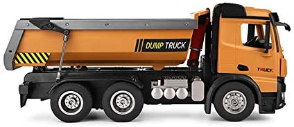 41llzXNn9bL. AC  - GoolRC WLtoys 14600 RC Dump Truck, 1/14 Scale 2.4Ghz Remote Control Dump Truck, RC Construction Vehicle Toy with LED Lights and Simulation Sound for Kids and Adults