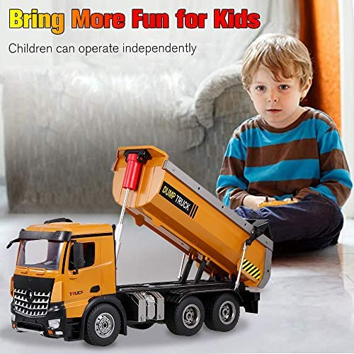51HXsXktVDL. AC  - GoolRC WLtoys 14600 RC Dump Truck, 1/14 Scale 2.4Ghz Remote Control Dump Truck, RC Construction Vehicle Toy with LED Lights and Simulation Sound for Kids and Adults
