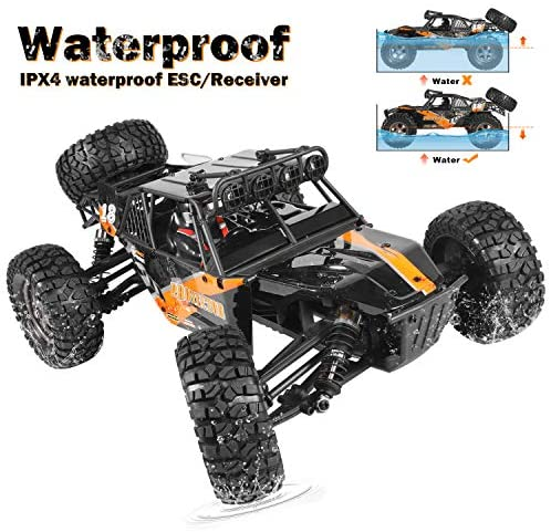 51MwbVzi6cL. AC  - Remote Control Car,1:12 Scale 4x4 RC Cars Protector 38+ kmh High Speed, 2.4 GHz All Terrain Off-Road RC Truck Included 2 Rechargeable Batteries, Ideal Xmas Gifts Remote Control Toy for Boys and Adults