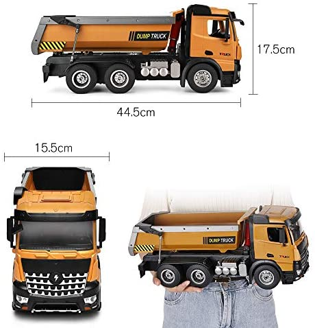 51VaK8fElyL. AC  - GoolRC WLtoys 14600 RC Dump Truck, 1/14 Scale 2.4Ghz Remote Control Dump Truck, RC Construction Vehicle Toy with LED Lights and Simulation Sound for Kids and Adults
