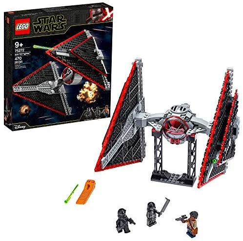 51h8qxE9JNL. AC  - LEGO Star Wars Sith TIE Fighter 75272 Collectible Building Kit, Cool Construction Toy for Kids, New 2020 (470 Pieces)
