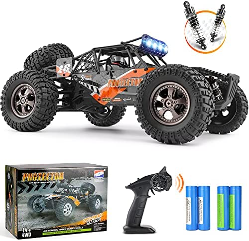51jXkp+Zm1S. AC  - Remote Control Car,1:12 Scale 4x4 RC Cars Protector 38+ kmh High Speed, 2.4 GHz All Terrain Off-Road RC Truck Included 2 Rechargeable Batteries, Ideal Xmas Gifts Remote Control Toy for Boys and Adults