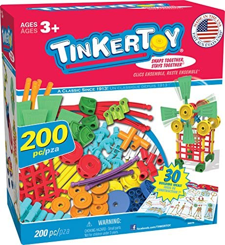 619EnFnXHcL. AC  - TINKERTOY 30 Model 200 Piece Super Building Set - Preschool Learning Educational Toy for Girls and Boys 3+ (Amazon Exclusive)