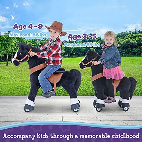 """61glSkxUddL. AC  - PonyCycle Authentic Ride on Pony Toy Spring Horse (with Brake/ 38.1"""" Height/ U4 for Age 4-9) Horse Rider Toys Bouncy Animals Toddlers Riding Toy Black Ux426"""