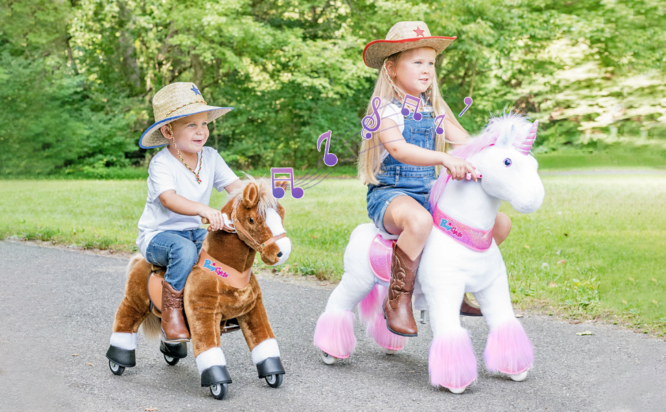 """889c2fb8 dde7 44d0 b882 124c52b0a2af.  CR0,0,970,600 PT0 SX970 V1    - PonyCycle Authentic Ride on Pony Toy Spring Horse (with Brake/ 38.1"""" Height/ U4 for Age 4-9) Horse Rider Toys Bouncy Animals Toddlers Riding Toy Black Ux426"""