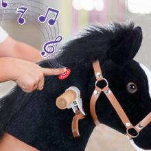 """9a3ad9ff ae02 4e8f b726 7d0b1759440a.  CR0,0,220,220 PT0 SX220 V1    - PonyCycle Authentic Ride on Pony Toy Spring Horse (with Brake/ 38.1"""" Height/ U4 for Age 4-9) Horse Rider Toys Bouncy Animals Toddlers Riding Toy Black Ux426"""