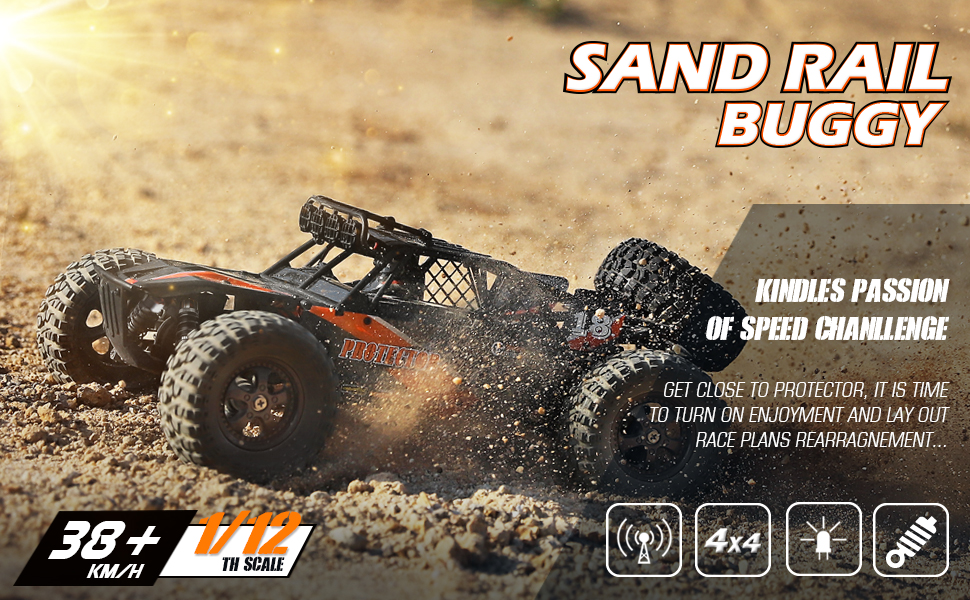 fc43b48b b383 4212 b15d 723ac1a184d8.  CR0,0,970,600 PT0 SX970 V1    - Remote Control Car,1:12 Scale 4x4 RC Cars Protector 38+ kmh High Speed, 2.4 GHz All Terrain Off-Road RC Truck Included 2 Rechargeable Batteries, Ideal Xmas Gifts Remote Control Toy for Boys and Adults